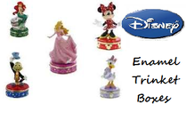 DISNEY ENAMEL TRINKET BOXES