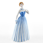 Royal Doulton HN4726 Pretty Ladies Enchanted Evening in Pale Blue Dress with Her Hair Up