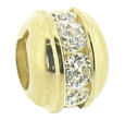 Truth Jewellery 443715 9CT Gold Charm CZ Centre Bead