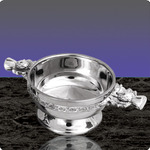 English Pewter SQ904 Thistle Handle Quaich 4.5
