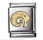Nomination 032104/01 Composable Big Charm ZODIAC Stainless Steel & 18k Gold Aries