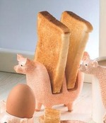 Border Fine Arts A8807 Young Heriot Piglet Toast Rack