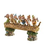 Disney Traditions Jim Shore 4005434 Homeward Bound Seven Dwarfs Walking Over Fallen Log