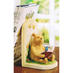 Winnie the Pooh A7889 POOH READING BOOKSTOP Figurine