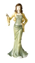 Royal Doulton HN4858 Pretty Ladies Abigail  in Green Dress and Yellow Cardigan