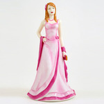 Royal Doulton HN4815 Classics Cherish In Pale Pink Dress And Dark Pink Sash - Breast Cancer Charity Figurine