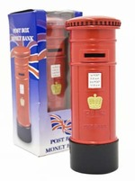 Leonardo LP01684 London Post Box Money Box