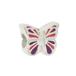 Truth Childrens Charm 445549 Sterling Silver Charm Cutie Enamel Butterfly Bead