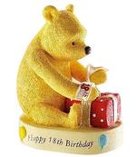 Winnie The Pooh A21111 HAPPY 18TH BIRTHDAY Figurine