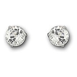 Swarovski 1800046 Solitaire Rhodium Plated Pierced Earrings