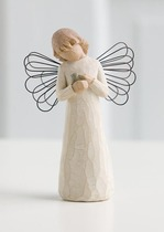 Willow Tree 26020 Angel of Healing - For Those Who Give The Comfort With Caring & Tenderness- Cream Angel Holding A Bird