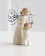 Willow Tree 26034 Guardian Angel - May you Always have an Angel to Watch Over You- Cream Angel with child