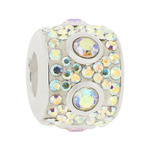 Truth Jewellery 446283 Sterling Silver 925 Charm White Crystal Bead