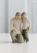 Willow Tree 26030 Figurine Father & Son - Celebrating the Bond of Love Between Fathers & Sons- Cream Father With Son