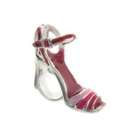 Truth Jewellery 444139 925 Silver Pink Enamel High Heel Sandal Charm Bead