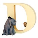 Winnie the Pooh A6619 Alphabets D - Eeyore with Snail