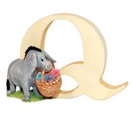 Winnie the Pooh A6632 Alphabets Q - Eyeore with Basket