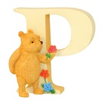 Winnie the Pooh A6631 Alphabets P - Pooh with Flowers