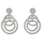 Swarovski 1106449 Purity Pierced Earrings Elegantly Combines Circles of Different Sizes