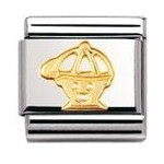 Nomination 030110/04 Composable Classic Charm FUN Stainless Steel & 18k Gold Boy
