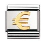 Nomination 030115/01 Composable Classic Charm GOOD LUCK Stainless Steel & 18K Gold Euro