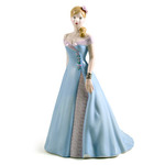 Royal Doulton HN4758 Pretty Ladies Charlotte In Blue Dress - Michael Doulton Exclusive 2005
