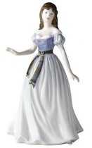Royal Doulton HN4469 Spirit Of Scotland In Pale Lilac Dress With Tartan Sash