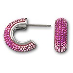 Swarovski 1062620 Maggy Fuchsia Rhodium plated  Pierced Earrings  Magnificent Gradation of Pink Tones