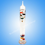 Galileo Thermometer G110 43cm Thermometer With Coloured Glass Inserts 7 BULB 16 TO 28 C NEW IN BOX