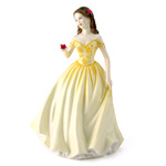 Royal Doulton HN4581 Pretty Ladies Rose In Pale Yellow And Orange Dress - Michael Doulton Event Figure Of 2004