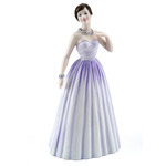 Royal Doulton HN4403 Pretty Ladies Samantha in Pale Lilac Dress with Beautiful Necklace