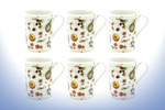Leonardo LP98899 FINE CHINA NEW FRUIT DESIGN MUGS SET OF 6 MUGS