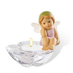 Goebel 66877077 Thinking of You Fairy on Glass Tealight  66-877-07-7