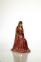 The English Ladies Co Eternal Love in Indian wedding dress Figurine