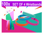 100x Official Team Great Britain London 2012 Olympics Pack of 4 Jelly Wristband