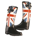 Juliana Metal Wall Art MWA630 Union Jack Riding Boots Wall Art Home Decor