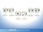 LEONARDO LP98356 MACKINTOSH EGG CUPS BLUE 6.5CM NEW