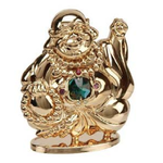 Crystocraft SP612  Gold Buddha with Crystal 9.5cm