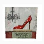Widdop PK56513 Juliana Home Living Canvas Prints with  Red Shoe