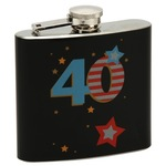 widdop TP13640 Talking pictures more than word 50z Hip flask Black 40th