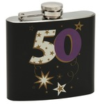 widdop TP13650 Talking pictures more than word 50z Hip flask Black 50th