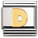 Nomination 030101/04 Composable Classic Charm LETTERS Stainless Steel & 18k Gold Letter D