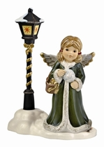 Goebel  66-885-49-2 66885492 Christmas Market - Angel with Cotton Candy lantern