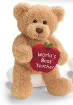 GUND 319509 Bears With Message Apples - World's Best Teacher