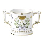 Royal Crown Derby ROYBIR61929  New - Royal Baby Loving Cup - Limited Edition No. 201 Of 1500