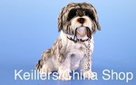 Leonardo LP12446 Sitting Shih TZU Walkies Black Cute Shih tzu With Lead In Mouth