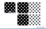 Leonardo LP91028 CASCADE Black & White COASTERS SET Of 4