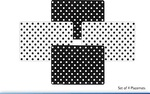 Leonardo LP91029 CASCADE Black & White PLACEMATS SET Of 4