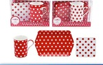Leonardo LP91163  CASCADE RED & WHITE MUG Coaster & Tray