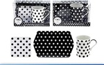 Leonardo LP91164 CASCADE Black & White MUG COAST TRAY